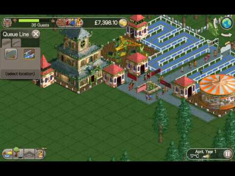 RollerCoaster Tycoon Classic Android Gameplay Video.