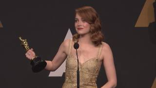Emma Stone Backstage Interview For Best Actress