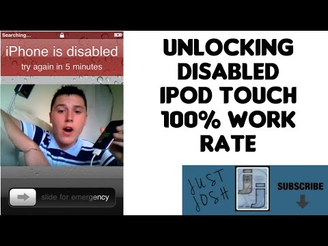 How To Fix Unlock Disabled Ipod Touch Works Forgotten Word