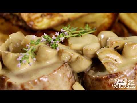 How To Cook Pork Tenderloin Steaks With Mushroom Cream Sauce