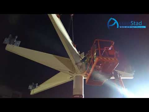 2017 10 15 nachtelijke plaatsing constructies Station Assen