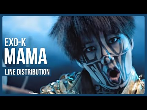 EXO-K - MAMA Line Distribution (Color Coded)