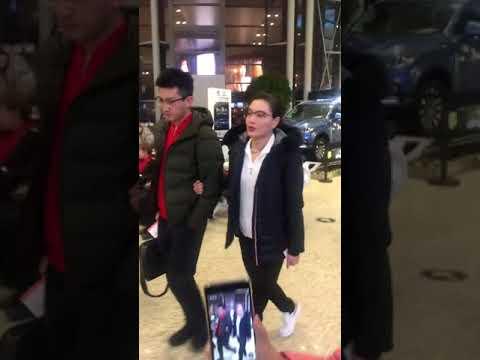 吴敏霞和老公甜甜蜜蜜😄 Wu Minxia and her husband sweet