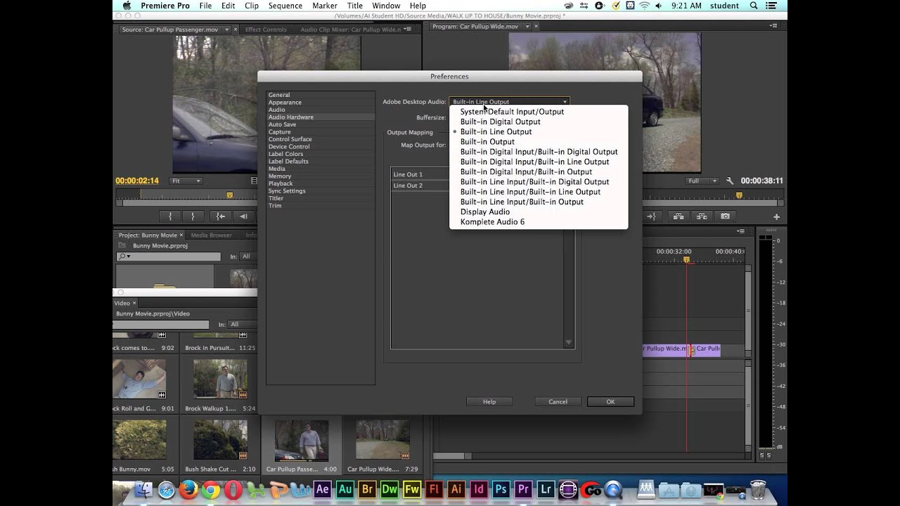 Adobe Premiere Pro Tutorial | Audio Output Settings | Headphones & Speakers