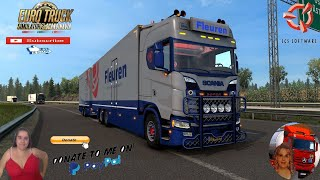 Euro Truck Simulator 2 (1.39)   Scania NextGen S Fleuren Edition Test Tandem Truck DLC Scandinavia by SCS Animated gates in companies v3.7 [Schumi] Real Company Logo v1.0 [Schumi] Company addon v1.9 [Schumi] Trailers and Cargo Pack by Jazzycat Motorcycle Traffic Pack by Jazzycat FMOD ON and Open Windows Naturalux Graphics and Weather Spring Graphics/Weather v3.6 (1.38) by Grimes Test Gameplay ITA Europe Reskin v1.0 + DLC's & Mods Features Scania NextGen S Fleuren Edition: - independent truck model - High quality 3D model - High quality detailed exterior - High quality detailed interior - High quality rims & 3D tires - High quality mirrors reflection - Correct exhaust smoke position - Correct plate license position - the model has own wheels - the model has own sound - the model has own interior - the model has own trailer - animated suspension - passanger seat - present the illumination of arrow speedometer and tachometer - the character is correctly sitting in the driver's seat cabin - the choice of wheels configuration - the choice of color body / metallic paint - the choice of transmission, gearbox - correct position of the Scania logo - Working headlights, brake lights, tail lights, front and rear turn signals, steering wheel and reverse signals; - The correct position of the player - There are external tuning - Supports all major functions of the game - Cabin Accesories support - Cables trailers support - FMod sound support - Windows Animation support - Open Pipe sound included - buy from Scania or Acces Mod dealer  For Donation and Support my Channel https://paypal.me/isabellavanelli?loc?...  SCS Software News Iberian Peninsula Spain and Portugal Map DLC Planner...2020 https://www.youtube.com/watch?v=NtKeP?... Euro Truck Simulator 2 Iveco S-Way 2020 https://www.youtube.com/watch?v=980Xd?... Euro Truck Simulator 2 MAN TGX 2020 v0.5 by HBB Store https://www.youtube.com/watch?v=HTd79?...  All my mods I use in the video Promods map v2.51 https://www.promods.net/se