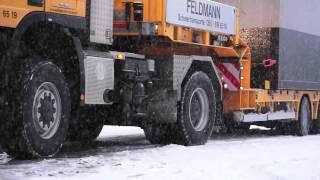 Feldmann Transport mit 4x4 Schlepper