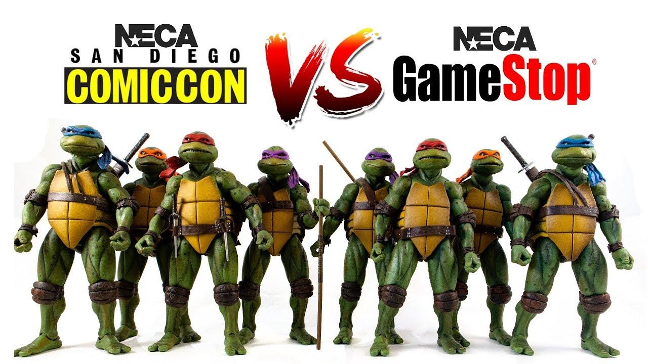 NECA Teenage Mutant Ninja Turtles GameStop Exclusive Figure Collection