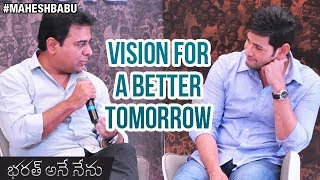 Mahesh Babu and KTR Interview | Vision for A Be...