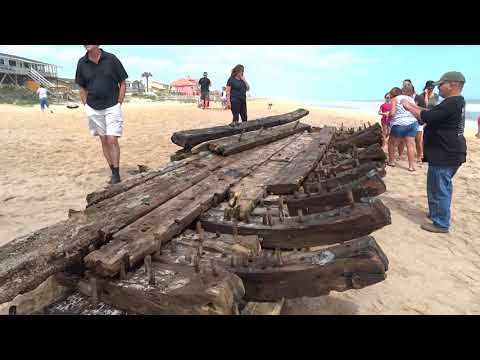 Shipwreck from the 1600's at Ponte Vedra Beach, St Augustine