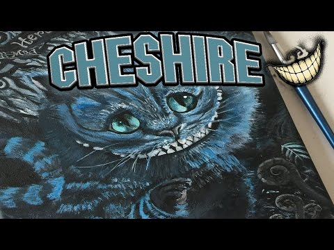 Cheshire Cat Painting Time Lapse!