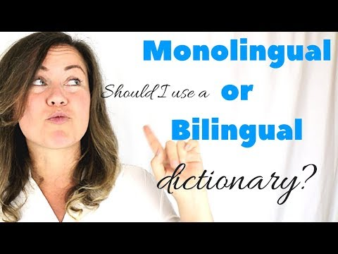 Think in English Tips - Monolingual vs Bilingual English Dictionary