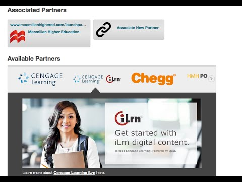 Adding Commercial Partner Content in Blackboard Learn as an instructor