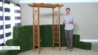 Coral Coast 6.5 Ft. Pagoda Wood Arbor - Product Review Video
