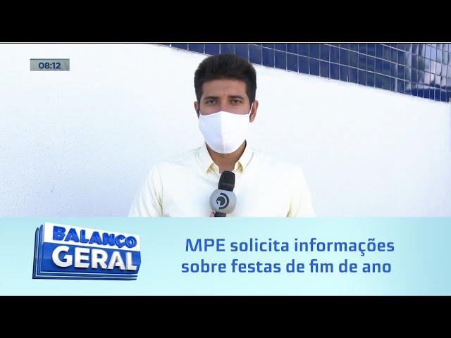 Réveillon na pandemia: MPE solicita informações sobre festas de fim de ano