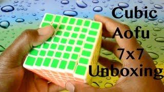 moyu cubic aofu 7x7 unboxing