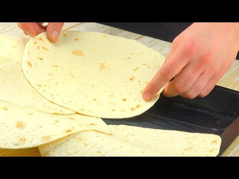Arrange 7 Tortillas In The Pan For A Big Tex-Mex Party – Yummy!