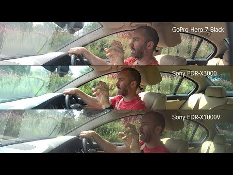 GoPro Hero 7 Black  Vs Sony X3000 Vs Sony X1000V - The Car Test
