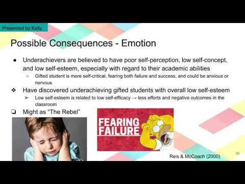 Underachievement in Gifted Children