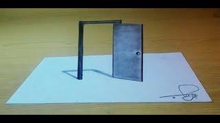 Magical door with Pencil - the door illusion