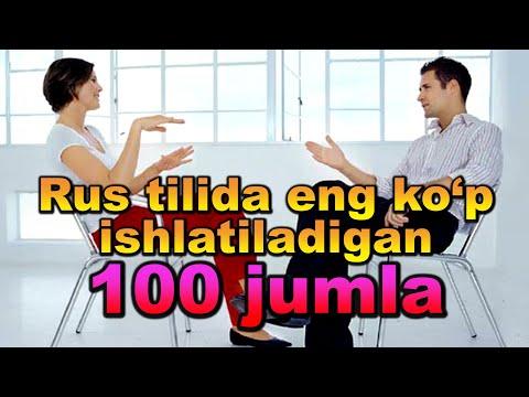 Rus Tilida Eng Ko`p Ishlatilinadigan 100 JUMLA. AUDIODARSLIK🎧. 2-QISM