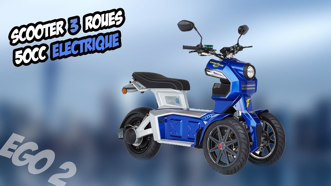 test 12 good year ego 2 scooter 3 roues 50cc youtube