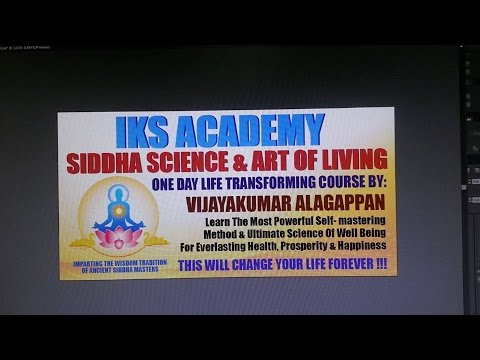 TESTIMONIALS ON SIDDHA SCIENCE AND ART OF LIVING - BASIC COURSE