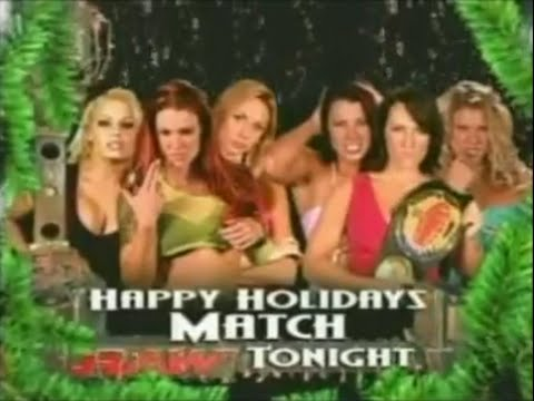 RAW's First 6-Diva Happy Holidays Match - December 29, 2003