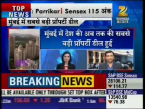 Zee Business News  India's biggest real estate deal -Niranjan Hiranandani
