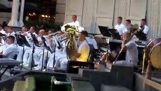 The U.S. Navy Band At The Navy Memorial  - Washington DC - 8/18/2015.