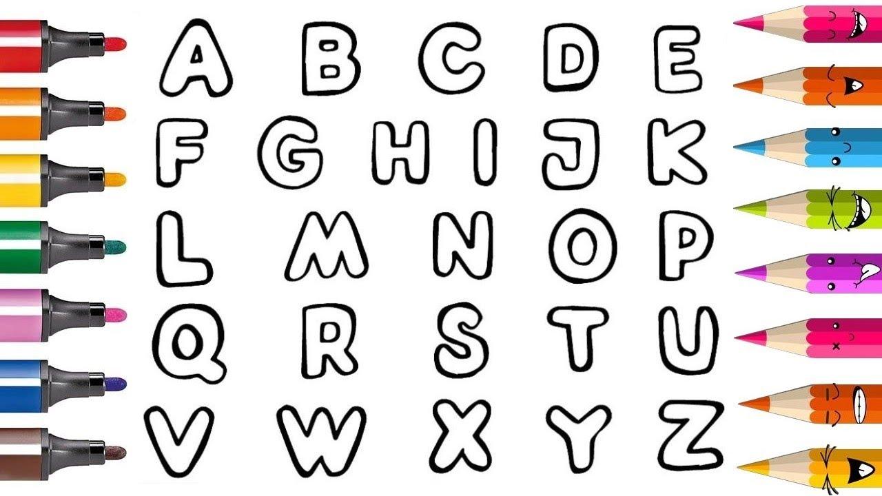APPRENDRE L'ALPHABET Coloriage des lettres vidéo pour enfants & Planète  coloriage