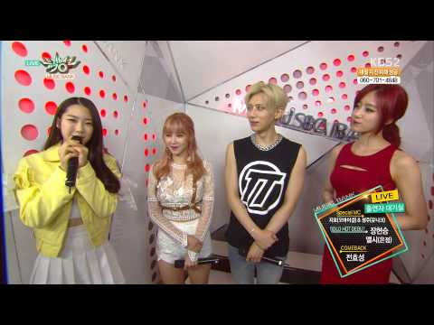 150508 HyoSeong, HyunSeung & Elsie (EunJung) - Interview @Music Bank