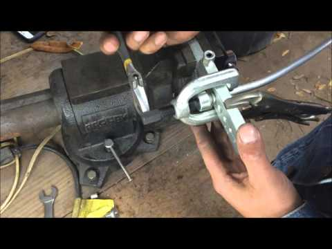 how to make a carburetor fuel line with double flare DIY GM chevelle