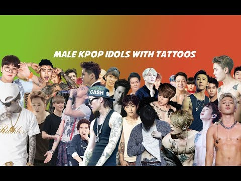 MALE KPOP IDOLS WITH TATTOOS
