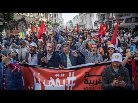 المغرب : مظاهرة في الدار البيضاء للاحتجاج على الفواراق الاجتماعية والمطالبة بـ-ديمقراطية حقيقية-  - نشر قبل 8 ساعة