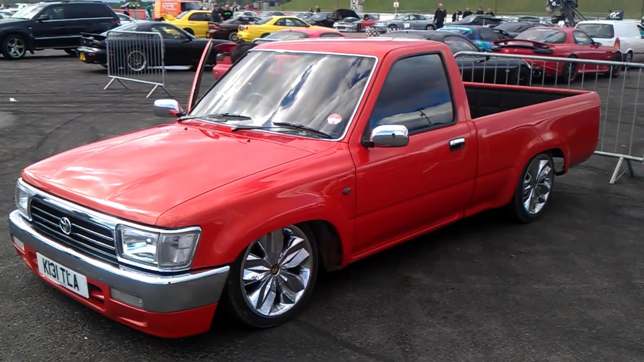 1992 Toyota Hilux Pickup Air Suspension Demo Youtube
