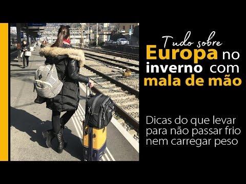 Europa no inverno com malas de mão   Dicas de roupas e acessórios para o frio