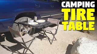 Camping Tire Table | Tire Mounted Camping Table