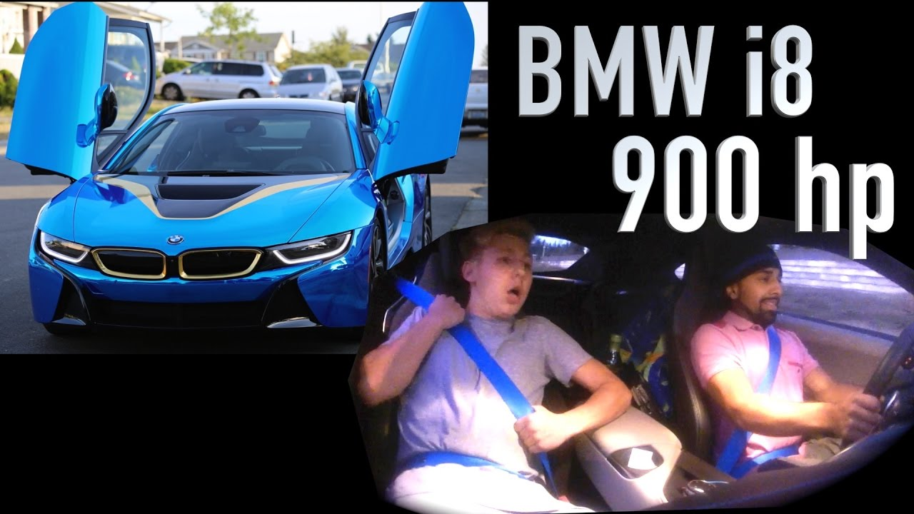 Bmw I8 900hp Blue And Gold Chrome Wrap Youtube