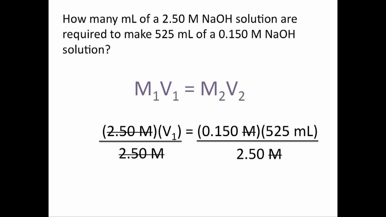 chemistry concentration problems