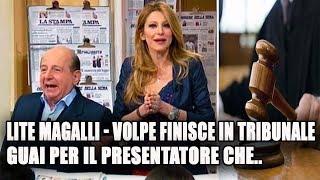 Lite Giancarlo Magalli - Adriana Volpe: guai per il presentatore che in Tribunale...