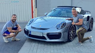HE GOT THIS INSANE 600BHP TECHART PORSCHE 911 TURBO S!