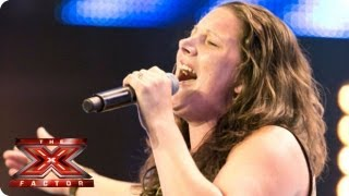 Sam Bailey sings Who's Loving You by The Jacksons - Arena Auditions Week 1 -- The X Factor 2013