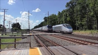Amtrak & MARC HD 60fps: Testing New Panasonic HC-V770 Camcorder @ Martin Airport Station 8/30/16