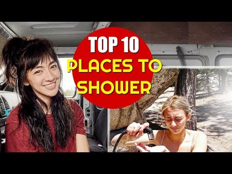 Solo Female Van Life: TOP 10 PLACES TO SHOWER! 🛀 | Hobo Ahle