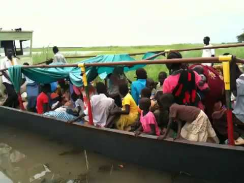 Boat ride from Nyeyok to Melut - South Sudan - Upper Nile area