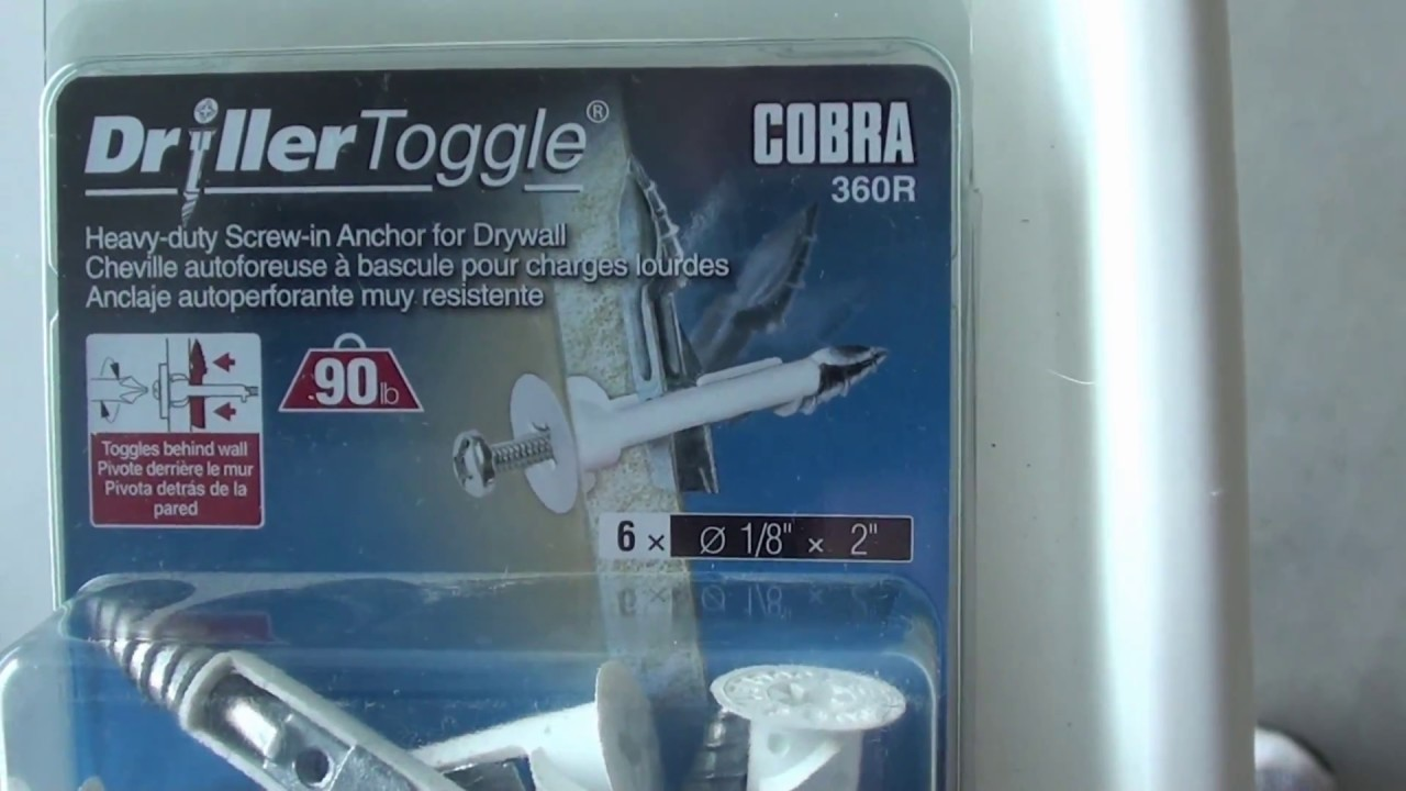 Don't buy this: drillertoggle a drywall anchor