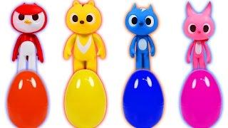 미니특공대와 로보카폴리 장난감 알까기 놀이(Miniforce & Robocar Poli Toys Surprise Eggs)