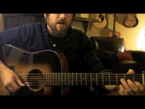 bluegrass guitar lesson: C Pos clip 3 cross picking through the scale