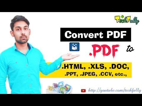 Convert PDF File To Any File (HTML,EXCEL,WORD,CSV,etc) Hindi - Nirbhay Kaushik