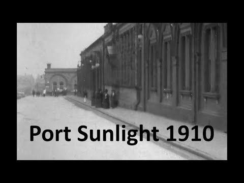 Port Sunlight 1910 A ferry journey to Rock Ferry and horse to the village and Lever Brothers